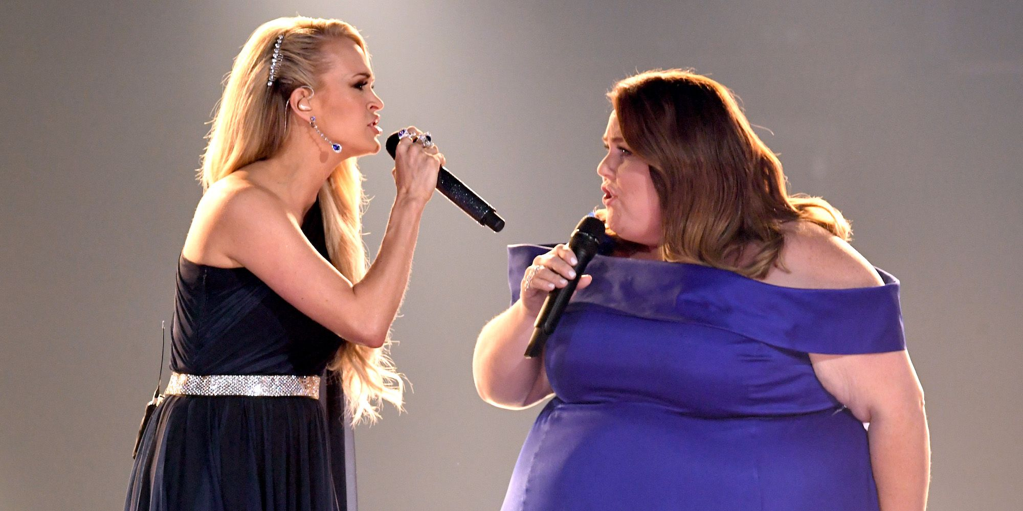 Chrissy Metz and Carrie Underwood at the ACM Awards