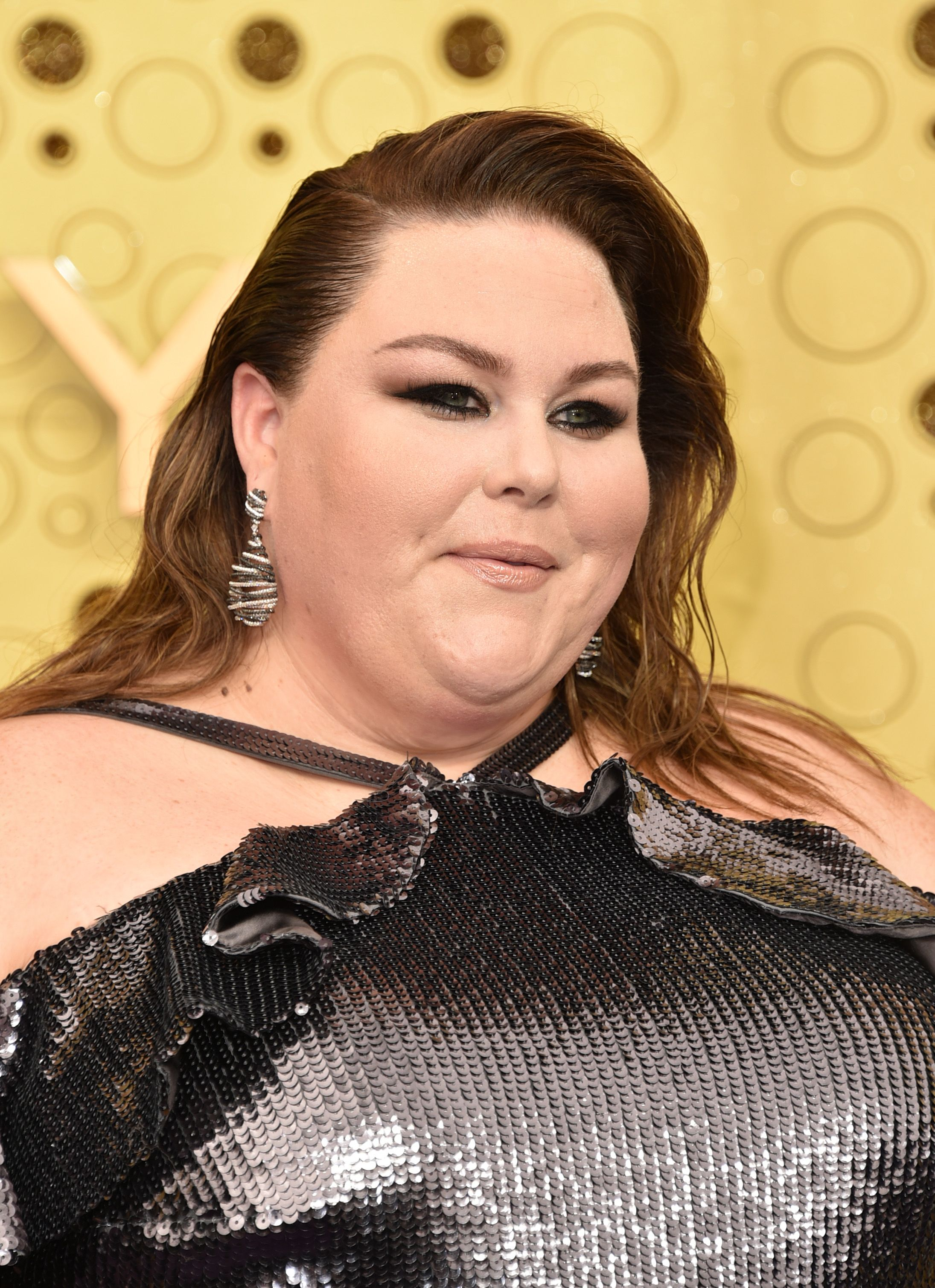Chrissy Metz Wears a Silver Sequin Dress to the 2019 Emmys