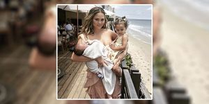 Chrissy Teigen claps back at trolls who came for this picture of baby Miles