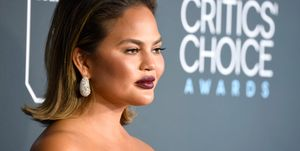 Chrissy Teigen at the 24th Annual Critics' Choice Awards - Arrivals