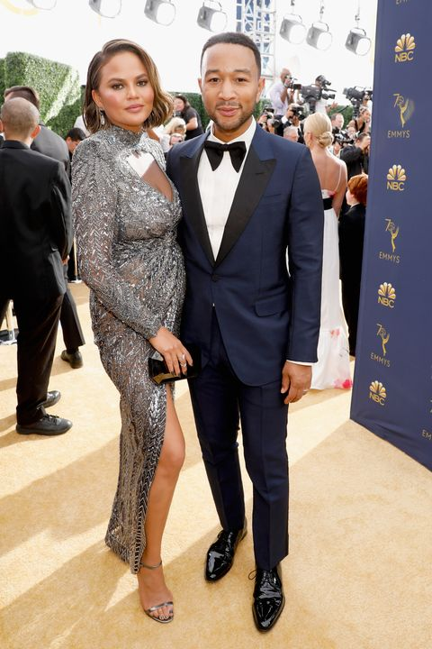 Chrissy Teigen and John Legend at the Emmys