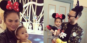 Chrissy Teigen and John Legend take Luna to Disneyland