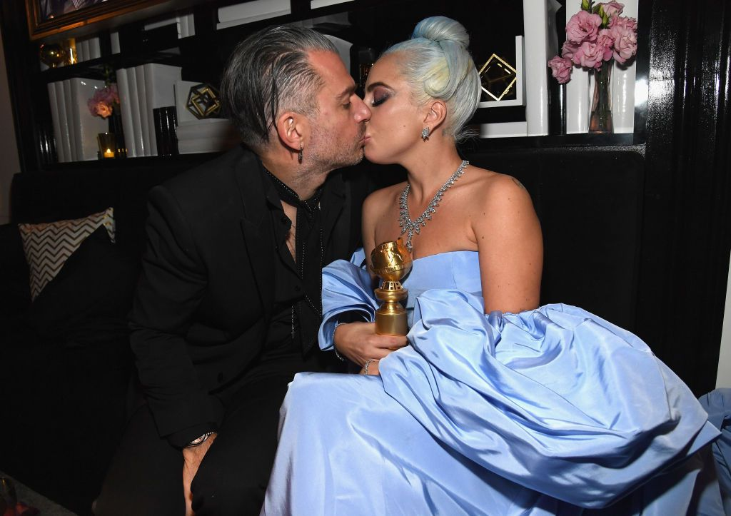 Lady Gaga's Fiancé Christian Carino Posted a Rare, Intimate Shot of Her in Bed With Golden Globe