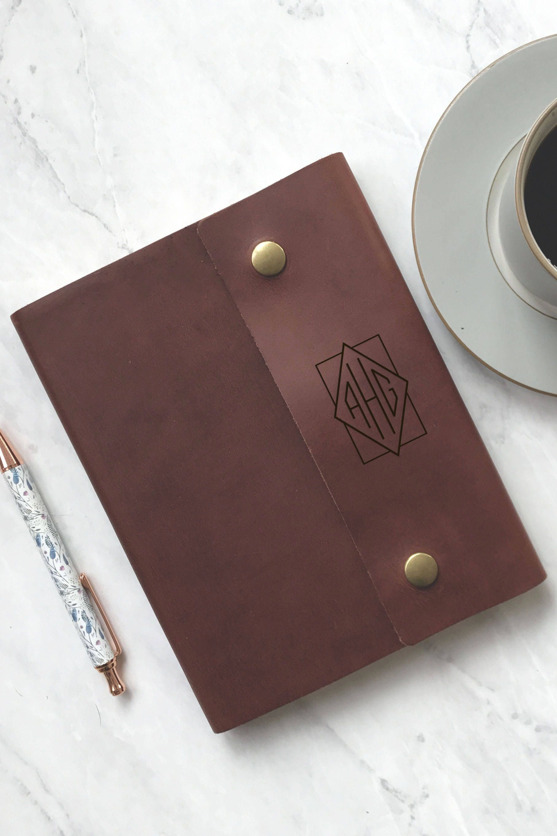 leather monogram bible cover