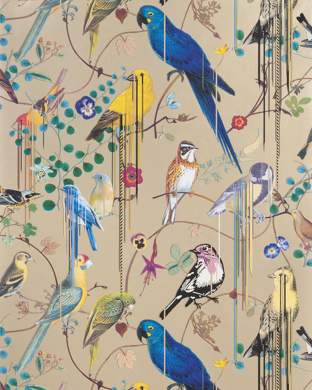 Papel pintado Birds Sinfonia, diseño de Christian Lacroix para Designers Guild