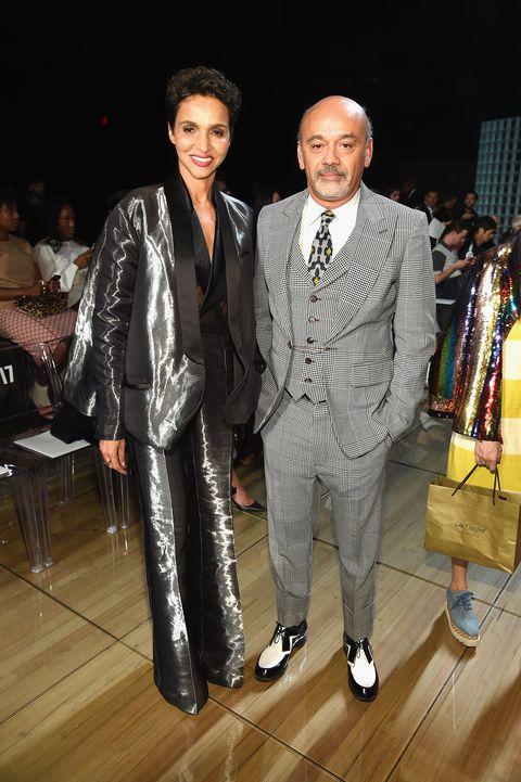 Suit, Fashion, Event, Formal wear, Fashion design, Tuxedo, Outerwear, Blazer, Pantsuit, Shoe,