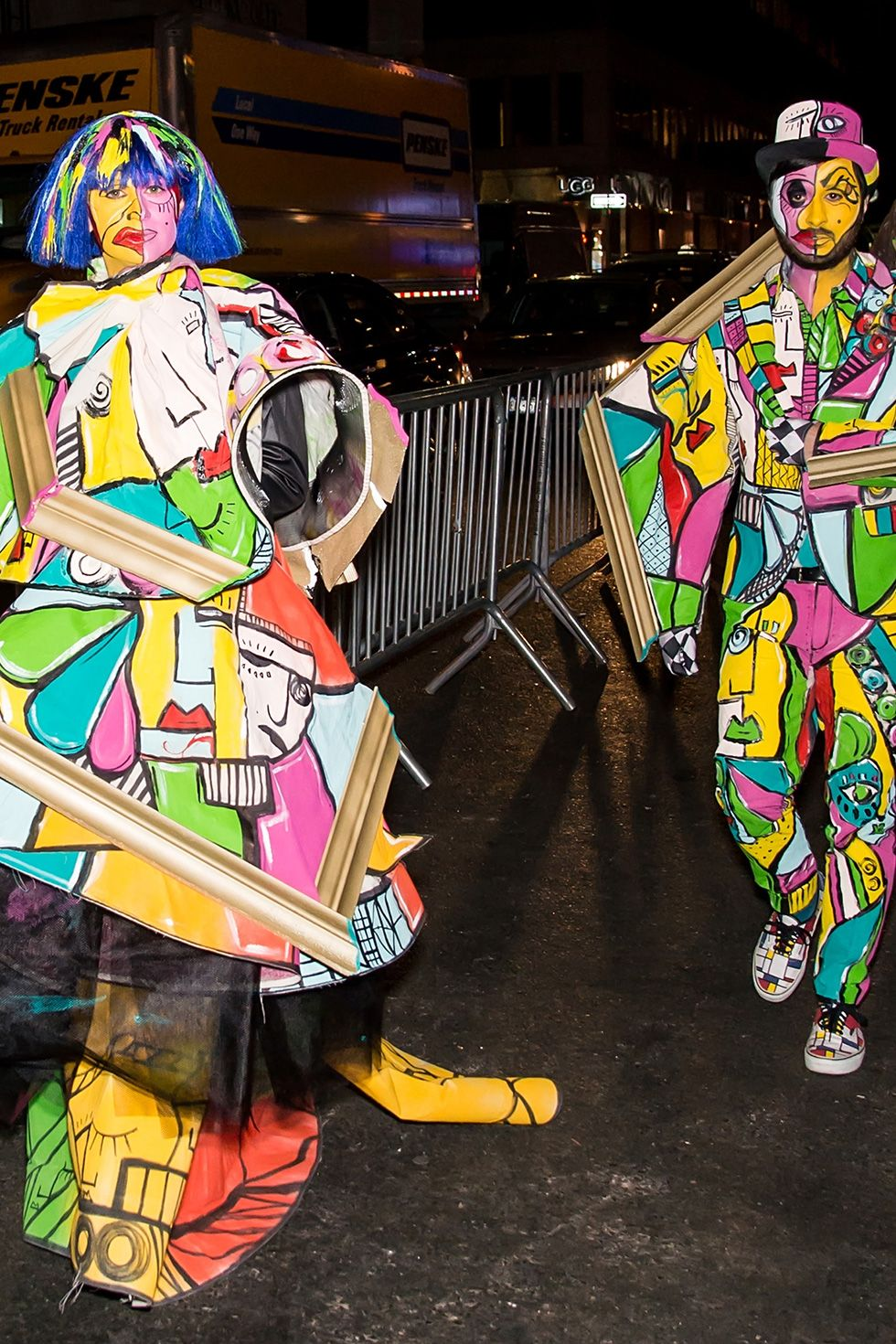 Christian Siriano and Brad Walsh - Picasso Paintings In 2015, fashion designer Christian Siriano and singer/music producer Brad Walsh arrived at Heidi Klum's Halloween party at LAVO in New York City dressed up as works of art—Picasso style.