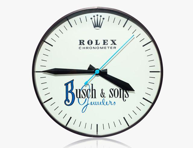 rolex busch and sons wall clock