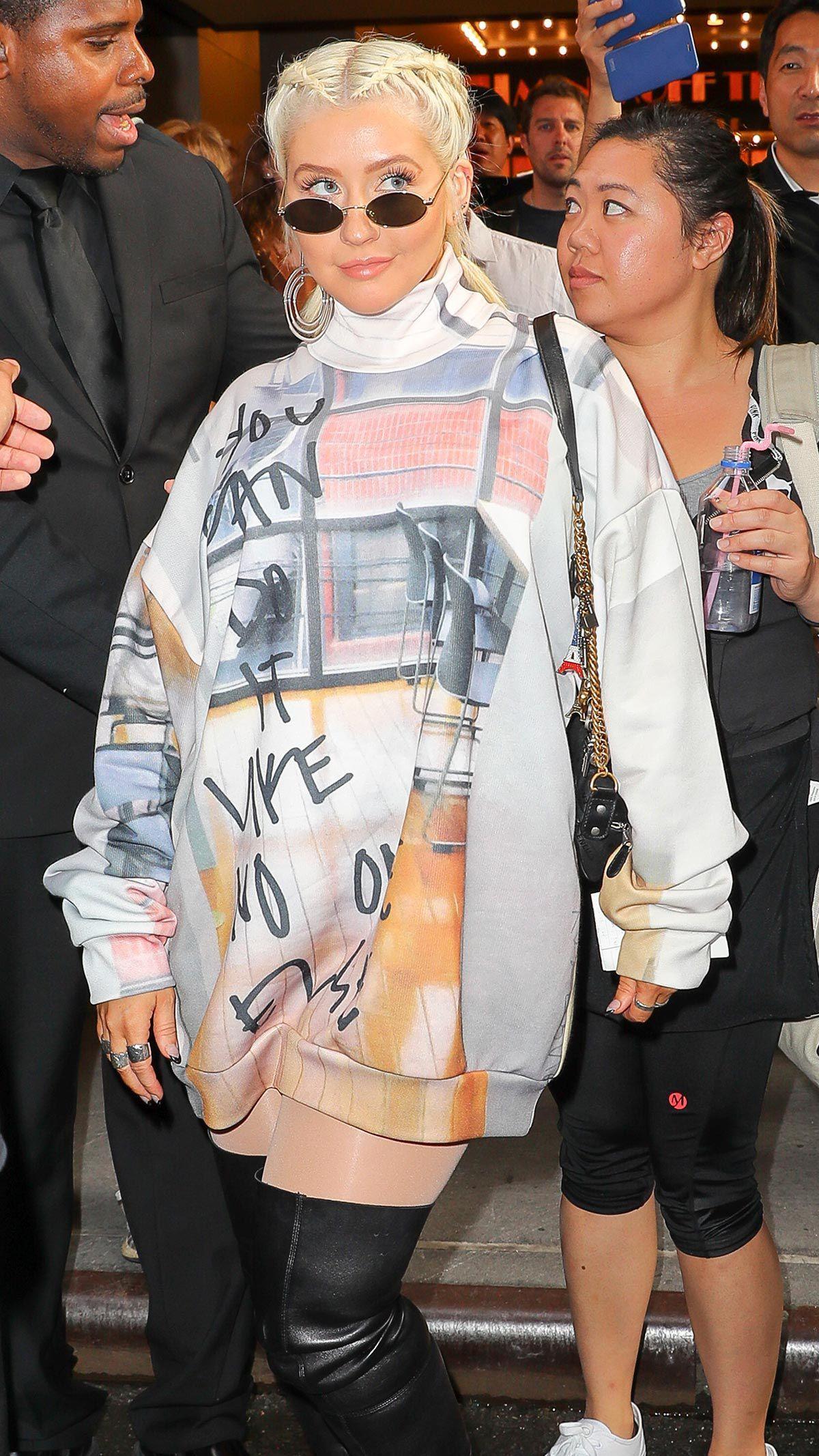 Christina Aguilera, mal vestida