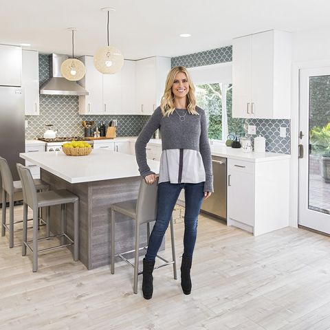 White, Room, Property, Yellow, Interior design, Furniture, Home, Kitchen, Floor, House,
