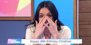 Christine Bleakley cries on Loose Women
