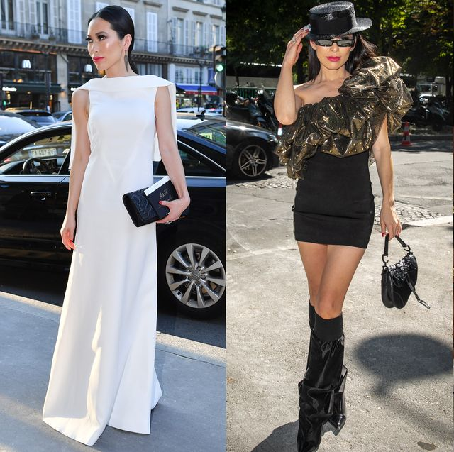 White, Clothing, Street fashion, Fashion, Shoulder, Dress, Fashion model, Snapshot, Footwear, Leg,