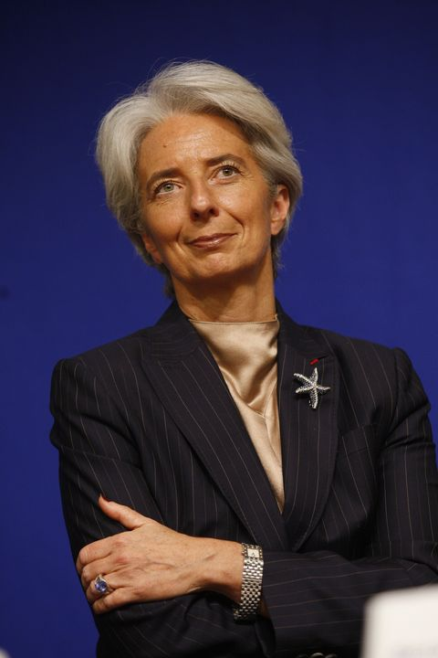Christine Lagarde, French Minister of Economy holds a press conference on the employment and the economic growth in Paris, France on March 26th, 2008