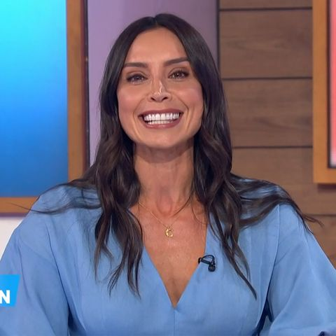 christine lampard's gorgeous zara dress is in a sale for £2999