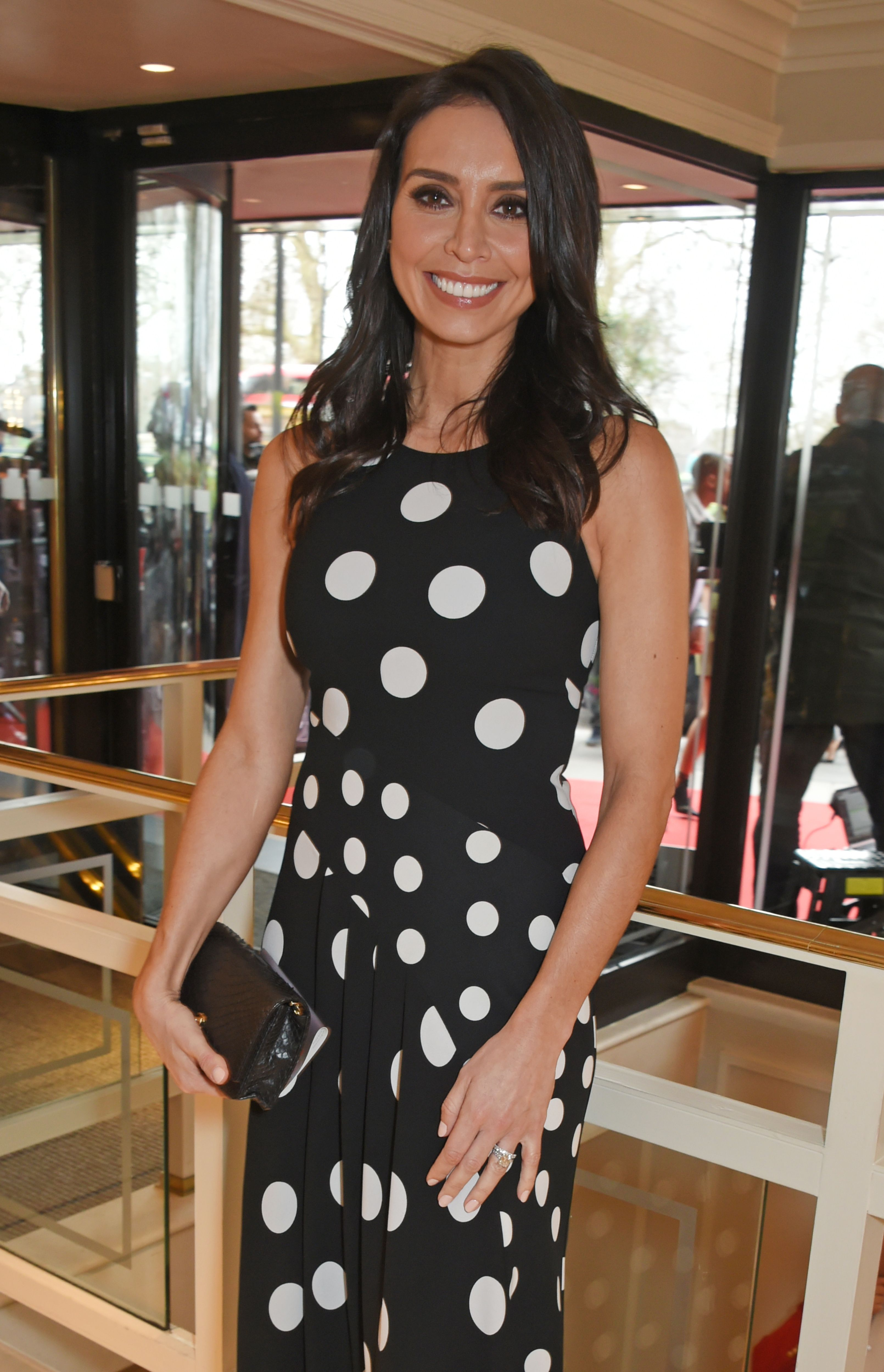 c8ae52569339 Christine Lampard looks spring-ready in stylish floral Phase Eight dress