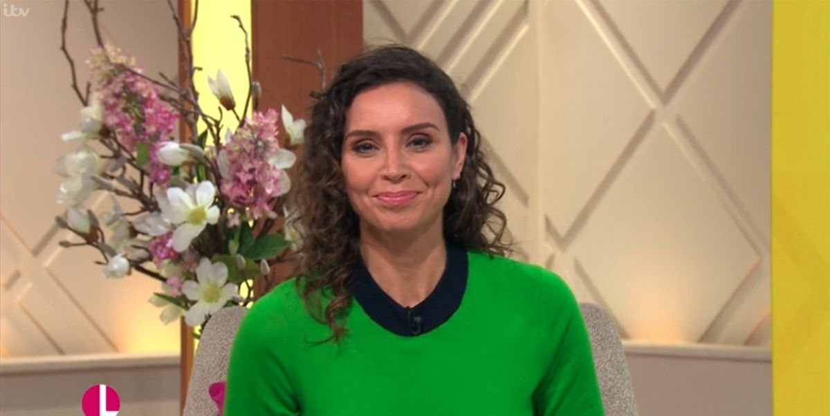 Christine Lampard shows off her natural curls on Lorraine