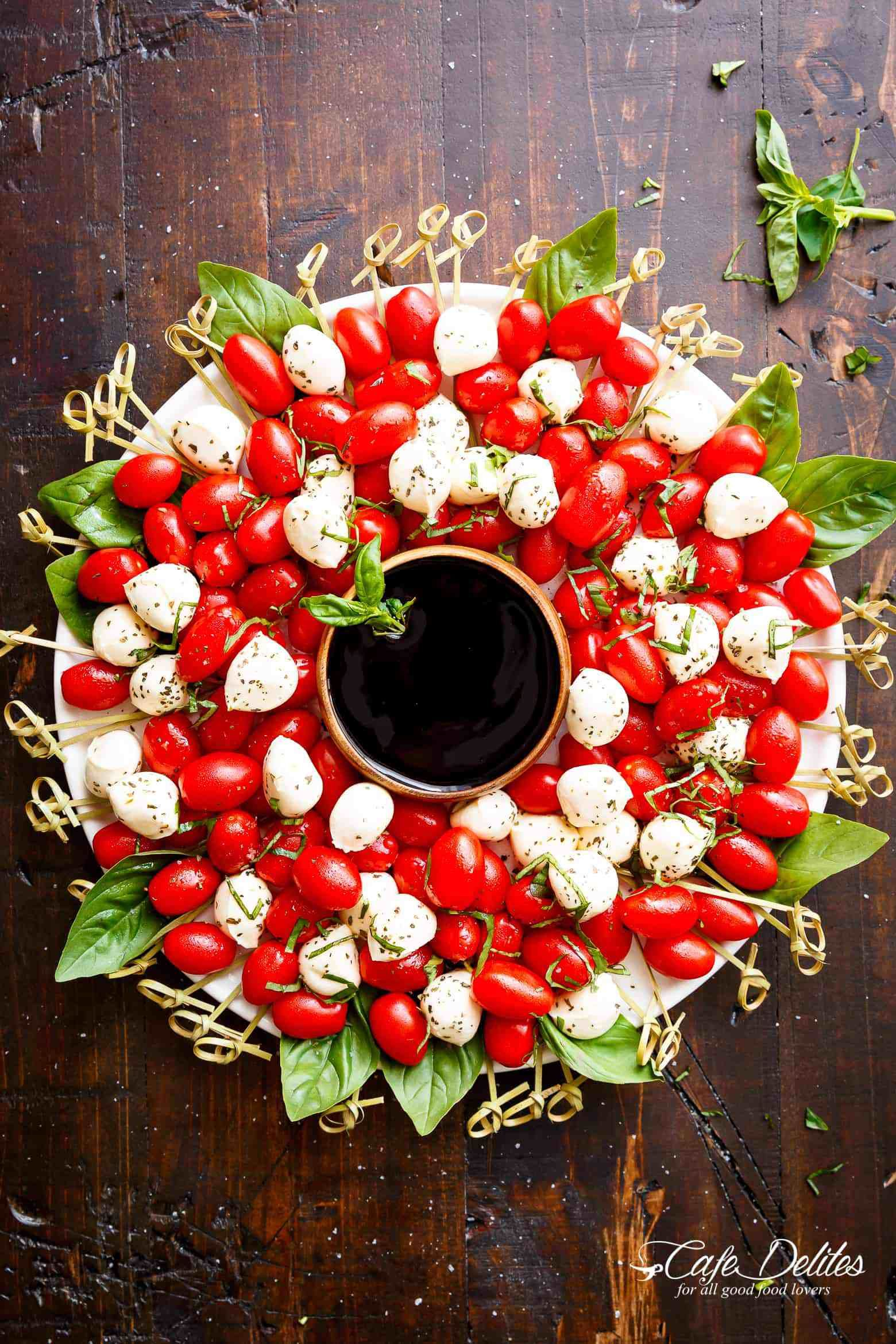 christmas appetizers caprese