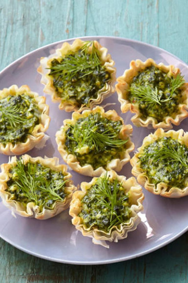 christmas appetizers feta and spinach tartlets