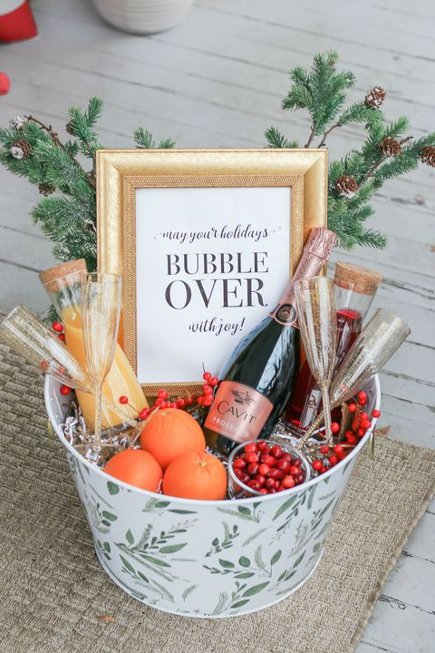 christmas basket ideas mimosa
