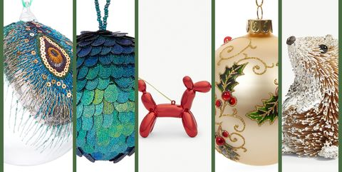 christmas baubles and hanging christmas tree decorations