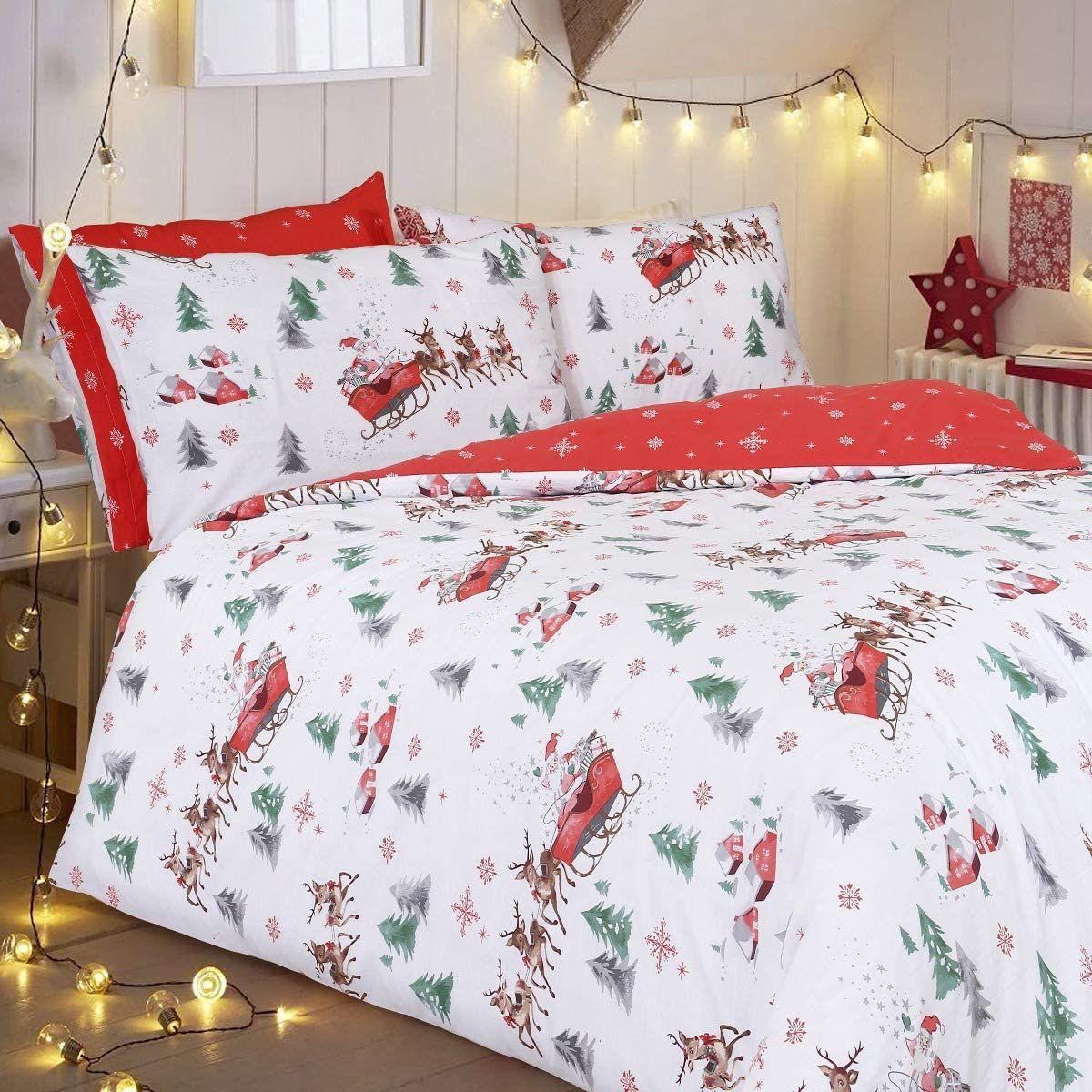 Cotton Flannel Christmas Duvet Cover