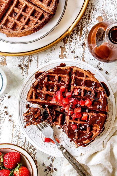 christmas breakfast chocolate waffles