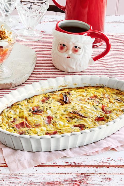 christmas breakfast ham quiche