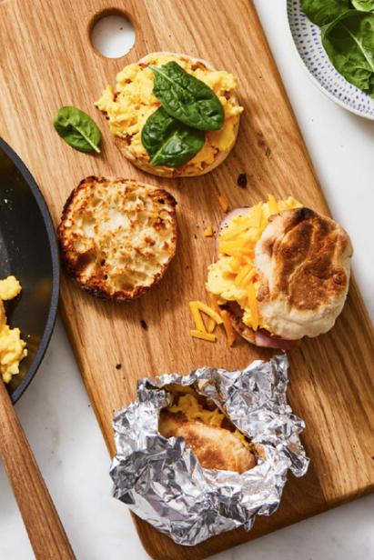 make ahead egg and cheese sandwiches