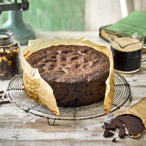 Chocolate stout Christmas cake