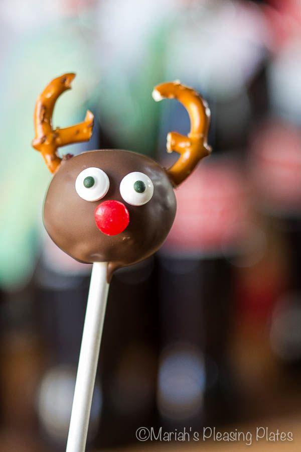 christmas cake pops reindeer