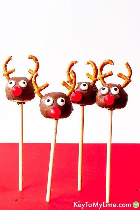 christmas cake pops  reindeer cake pops