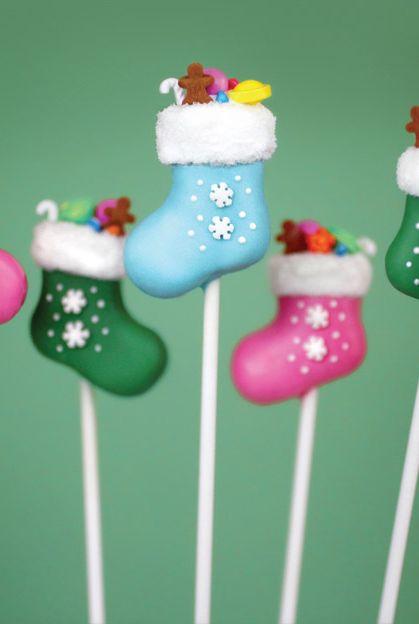 christmas cake pops stockings