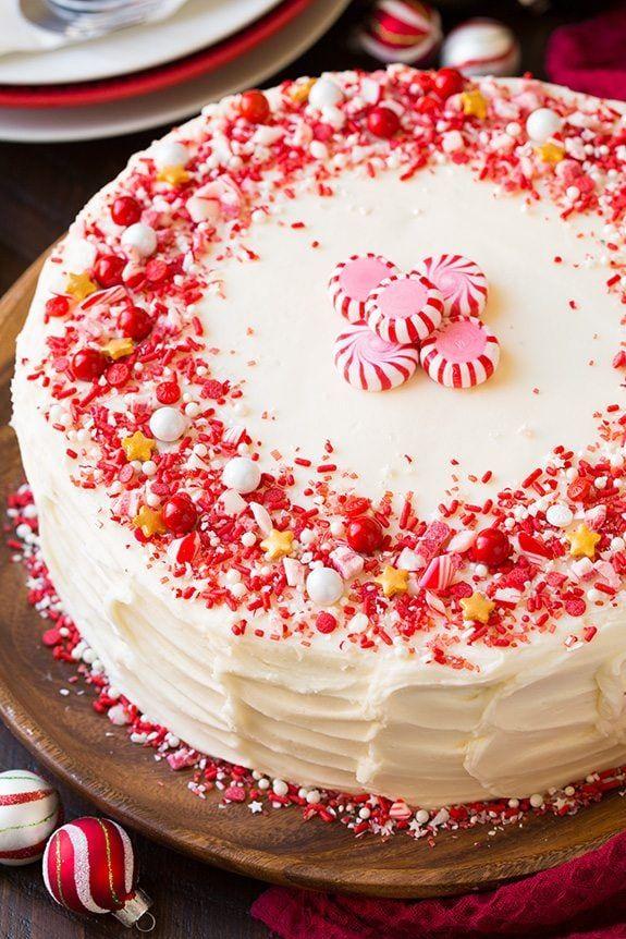 christmas cakes peppermint
