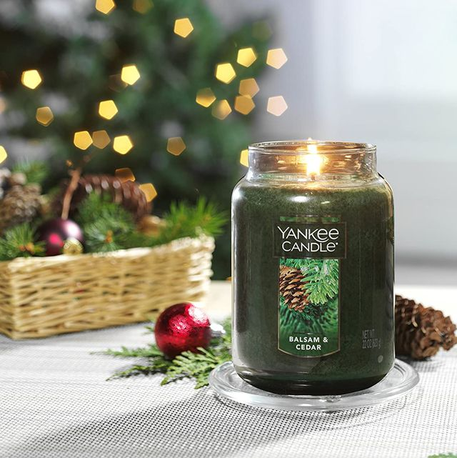 christmas candles yankee balsam and cedar candle