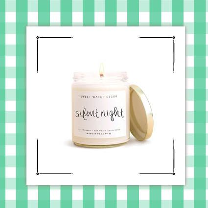 silent night candle and christmas punch candle