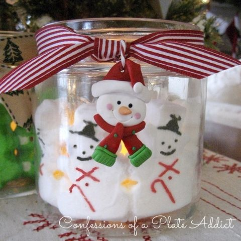 Christmas Peeps Candle