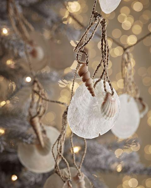 christmas capiz  shell garland