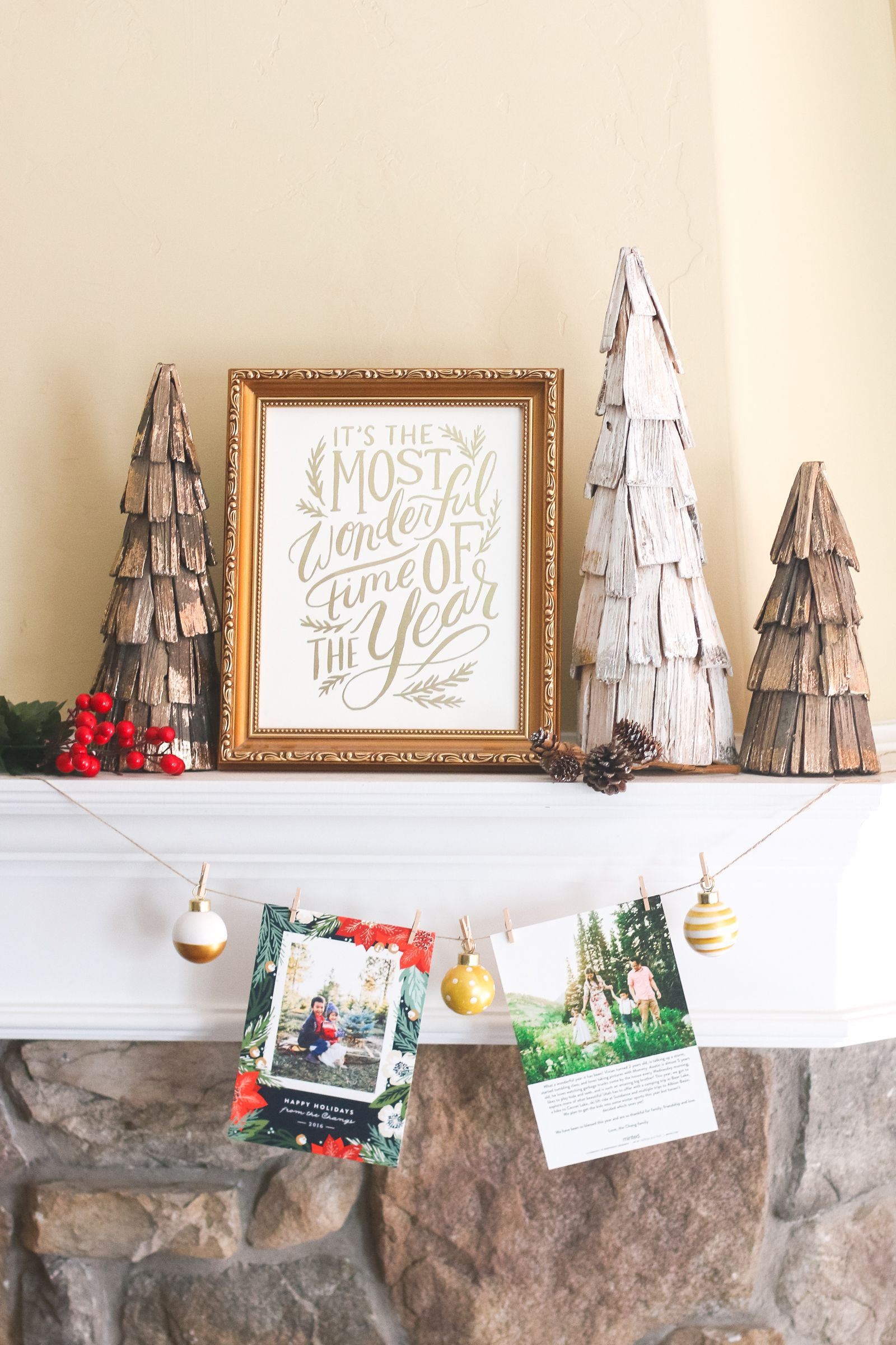 christmas card display ideas garland