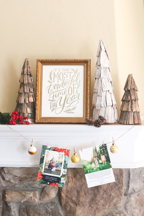 christmas card display ideas garland