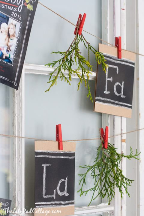 christmas card window garland