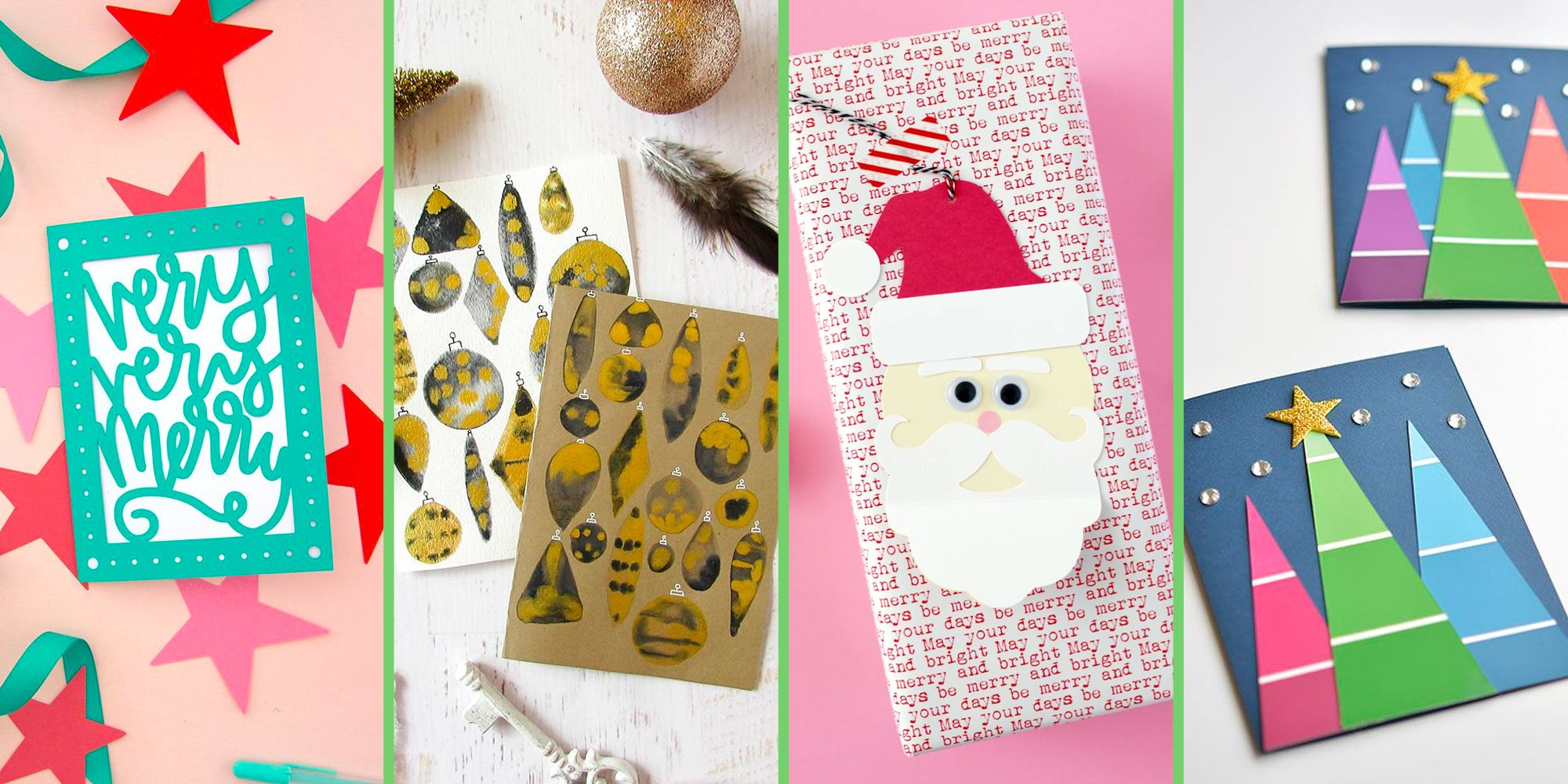 40 Diy Christmas Cards Unique Christmas Card Ideas