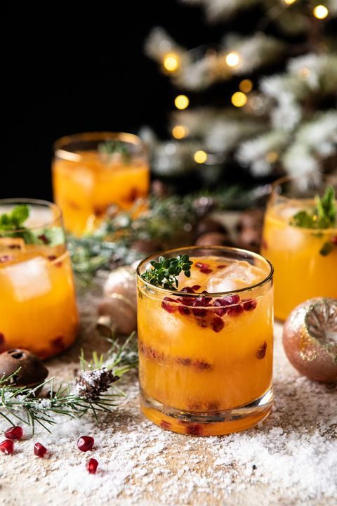christmas cocktails citrus vodka