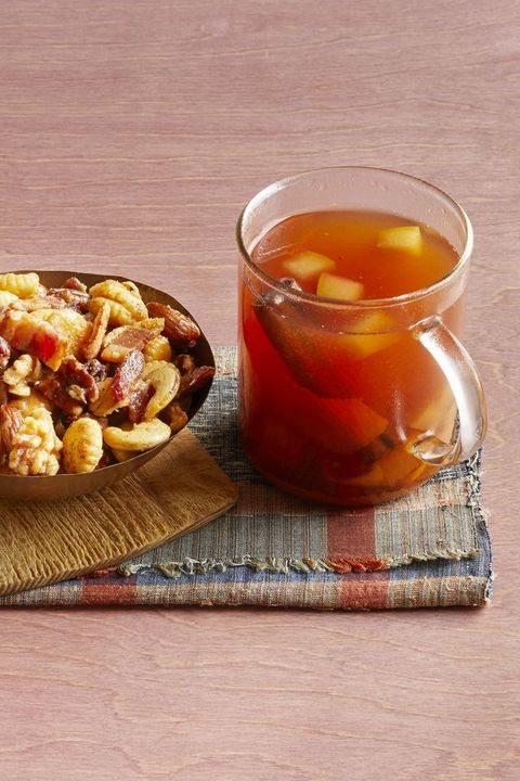 mulled cider with bourbon