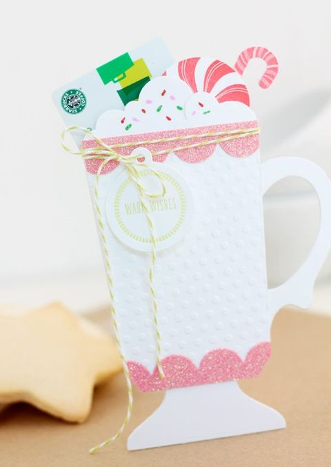 christmas cocoa gift card holder diy