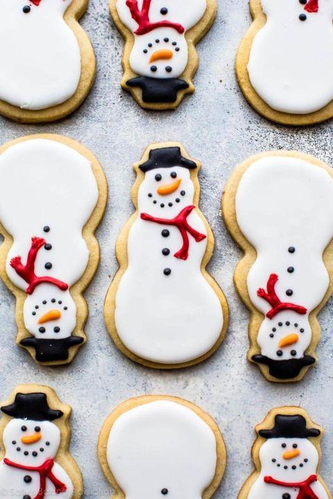 christmas cookie decorating snowman sugar cookies