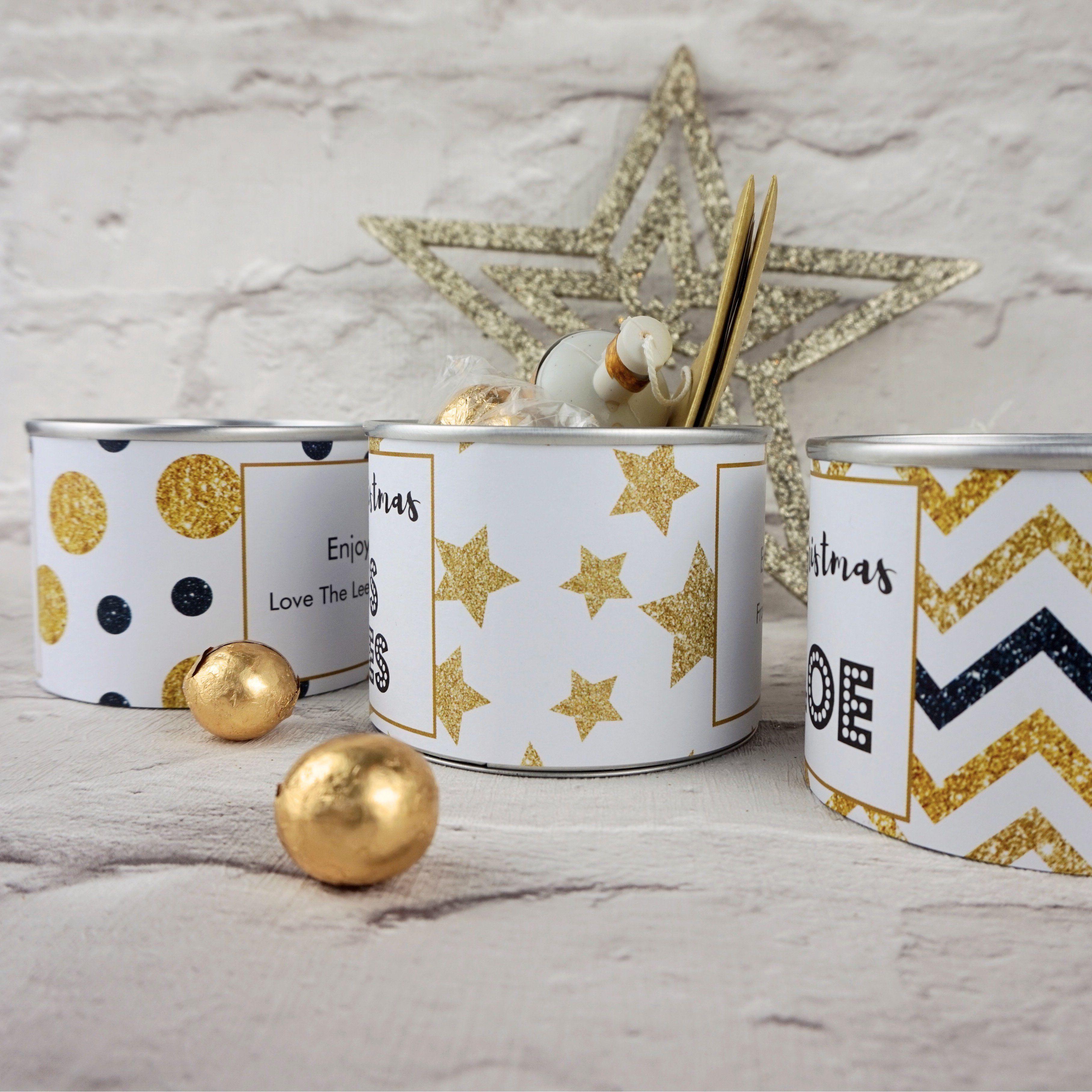 Christmas cracker tins
