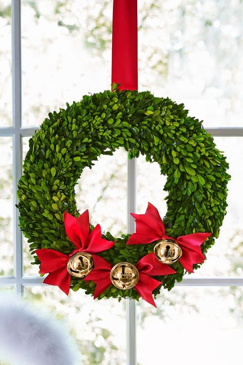 christmas crafts bell bow wreath