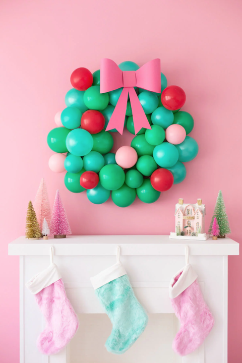 christmas crafts for kids balloon wreath