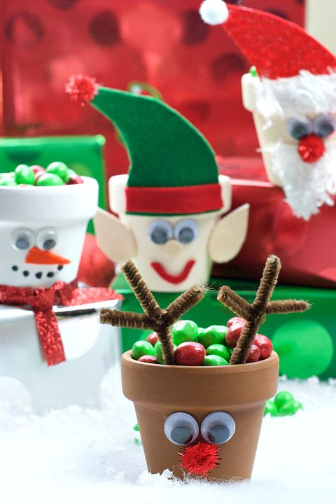 christmas crafts for kids candy pots