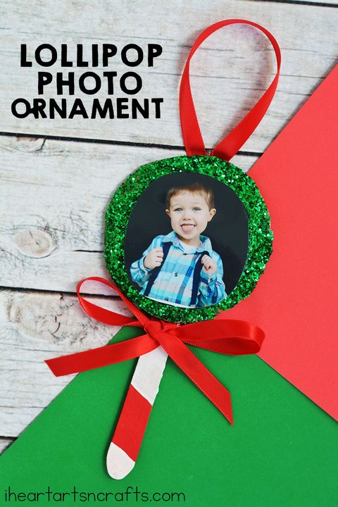 christmas crafts for kids photo ornament